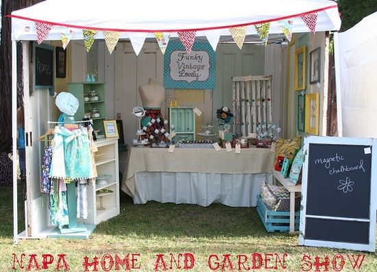 Craft booth display ideas cute booth display repinned for Used craft fair tents
