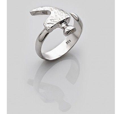 Δαχτυλίδι σφυρί της TOOLS by xatziiordanou #ring #hummer #silver #man