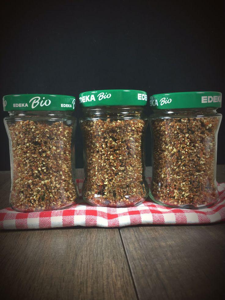 Trockenpesto auf Vorrat, Tomaten-Pesto auf Vorrat, veganes Pesto aus dem Thermomix
