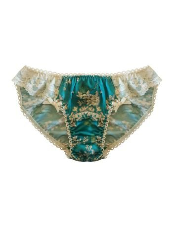 Liberty of London Silk Knicker Trimmed With Cotton Lace Handmade In The UK By Ayten Gasson