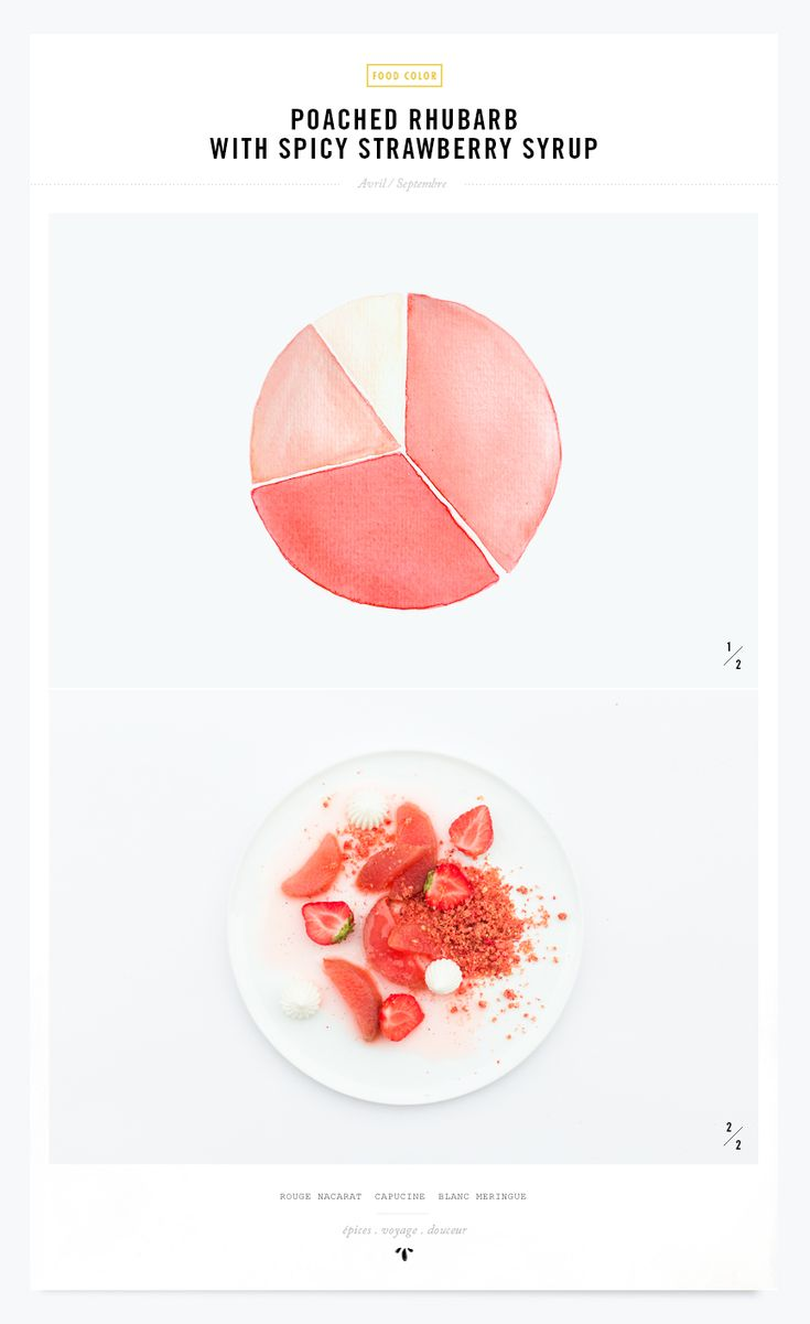 Color recipe | Poached rhubarb and spicy strawberry syrup | My little Fabric