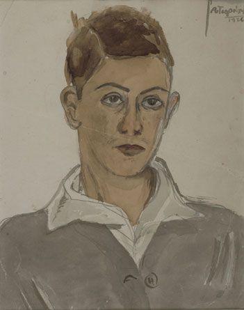 Self Portrait, 1926 Yiannis Tsaroychis