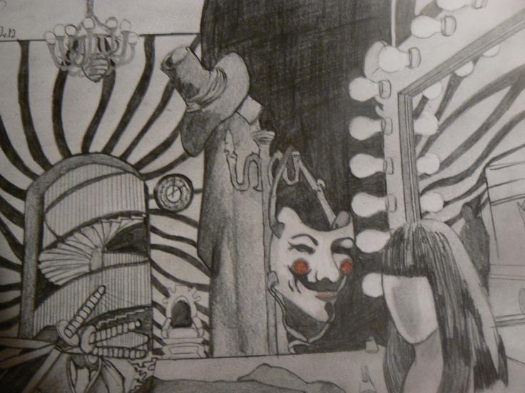 Fotograma V de Vendetta a lápiz