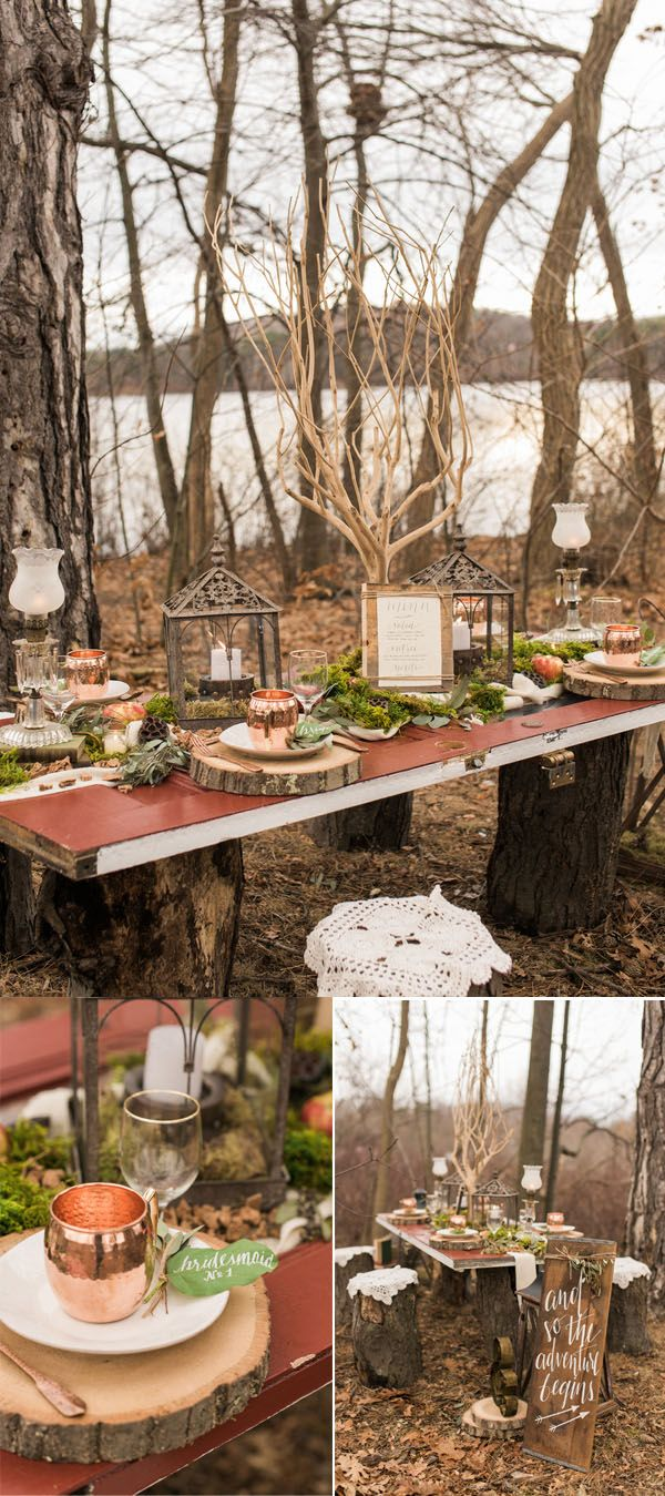 Best 25 forest wedding reception ideas on pinterest for Wedding reception ideas for spring