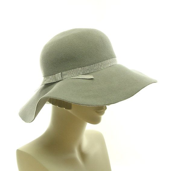 Gray Floppy Hat for Women Wide Brim Winter by TheMillineryShop
