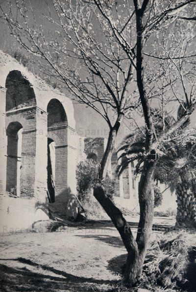 Mura Aureliane, interno del primo tratto che da Porta Metronia giunge a Porta Latina Südliche Stadtmauer, Innenseite, 1949 Anno: 1949