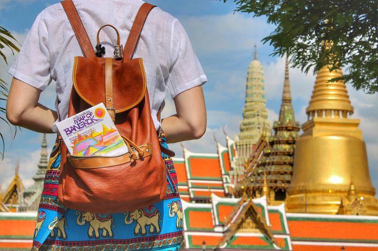 Exploring the Grand Palace in Bangkok with the Nancy Chandler Map of Bangkok. #bangkok #grandpalace