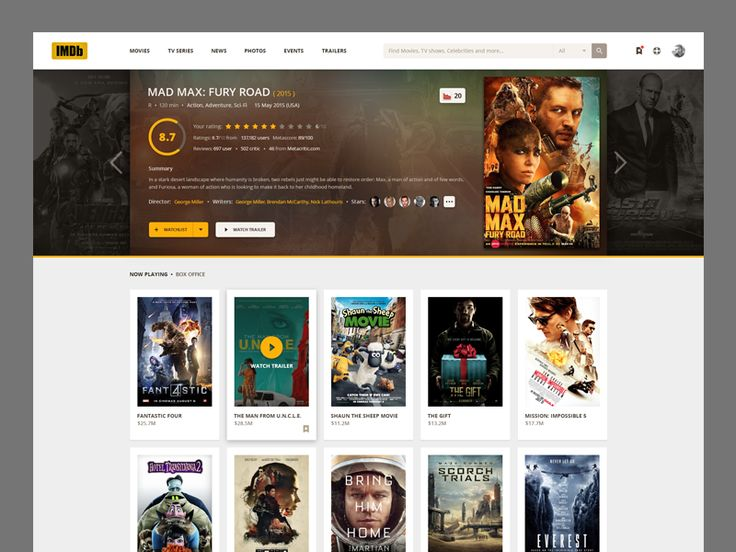 IMDb design concept by Jimmy BaBa