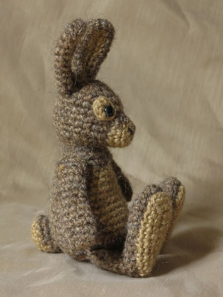 crochet bunny - I wish I could make one of these