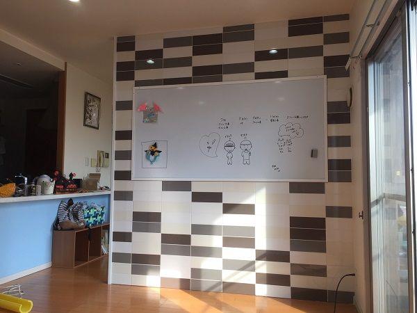 マンション内装リフォーム 間仕切り壁 ホワイトボード