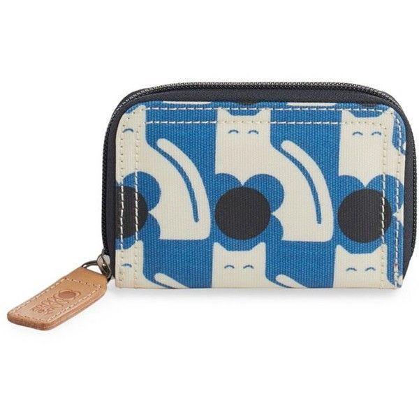 ORLA KIELY Poppy Cat Zip-Around Wallet (€40) ❤ liked on Polyvore featuring bags, wallets, real leather wallets, credit card holder wallet, cat bag, pattern wallet and orla kiely bags