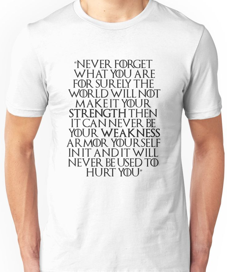 Game of Thrones - Tyrion Quote Unisex T-Shirt