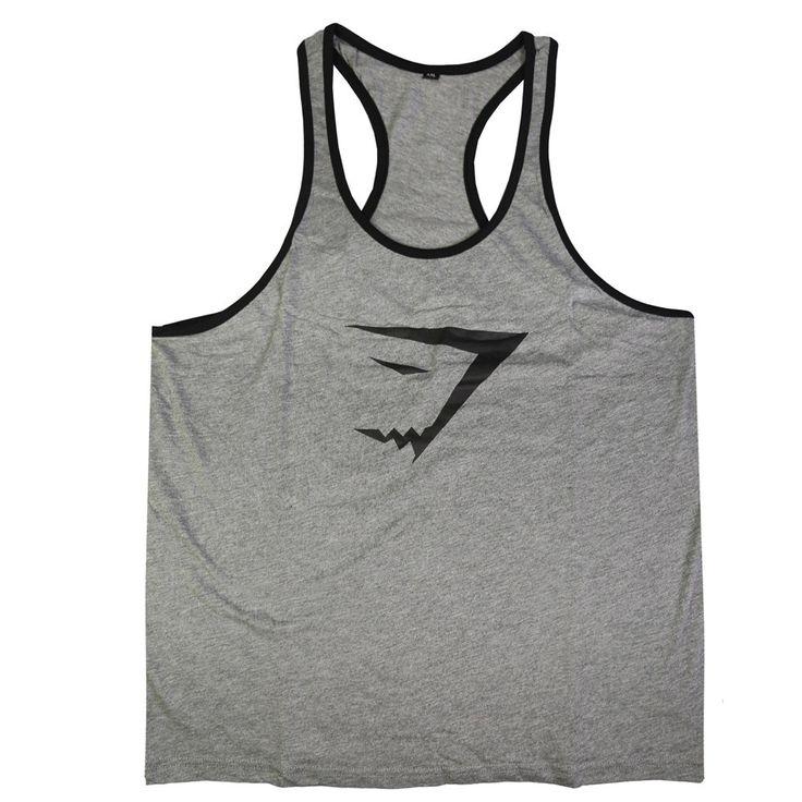Gyúrós edző trikó férfi szürke fekete Edzéshez,fitneszhez, testépítéshez! Már 2 db-tól INGYENES szállítás! Többféle színben és méretben!Csak NÁLUNK kapható