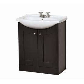 "Style Selections 30"" Dark Chocolate Eurostone Bath Vanity ..."