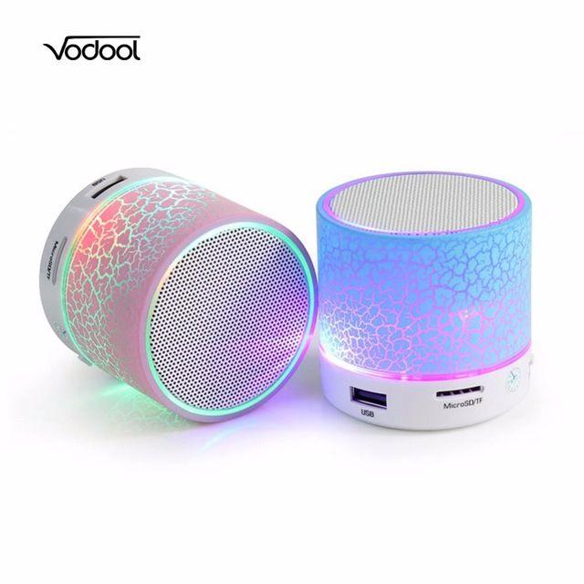 Hands-free mini bluetooth speaker música caixa de som portátil subwoofer speaker para telefone computador led alto-falantes sem fio bluetooth