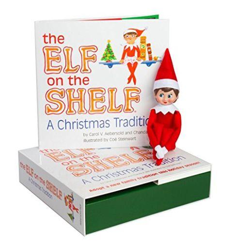 NEW Elf on the Shelf - Light Skinned Girl w/ Blue Eyes, Brown Hair - AUTHENTIC #TheElfontheShelf