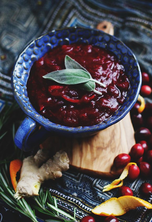 Unique Thanksgiving Recipes: Rosemary Citrus Ginger Cranberry Sauce | Free People Blog #freepeople