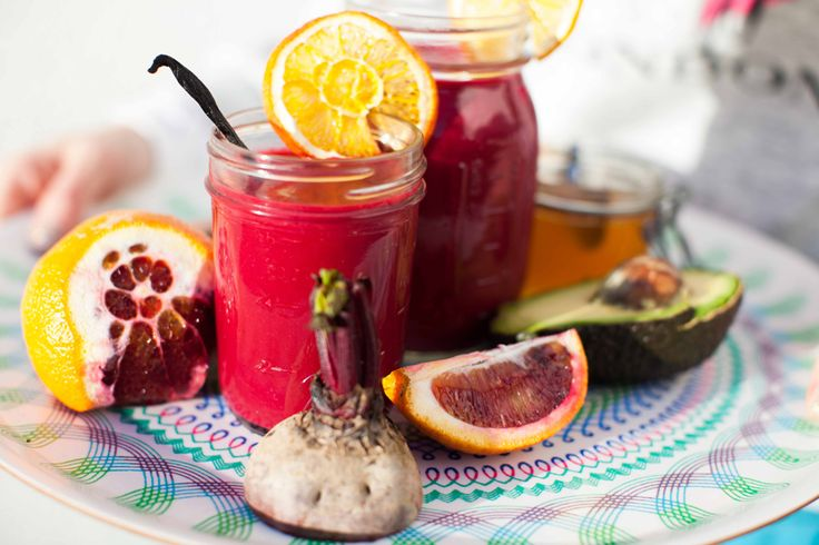 You can see from it's bright pink colour that this smoothie is good for you. Not just a pretty drink - that vibrant colour is the result of the red pigments from both seasonal blood orange and classic red beet.