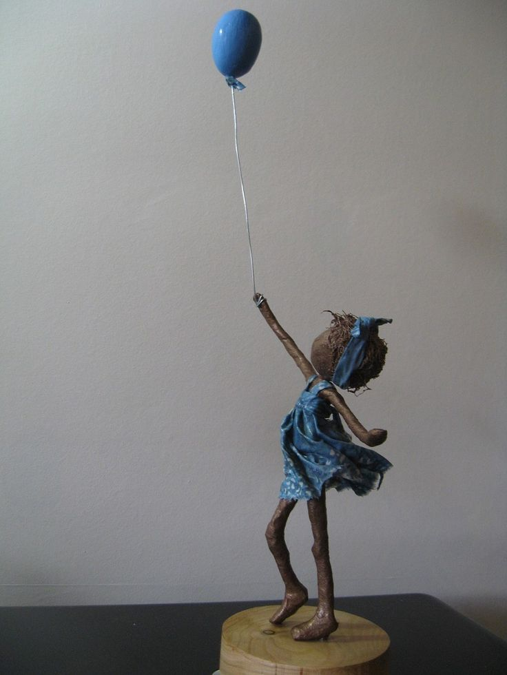 Girl with Balloon sculpture by Stephanie Jacobs