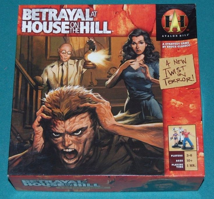 Betrayal at House of the Hill strategy game by Bruce Glassco UNPLAYED  2004 #Hasbro