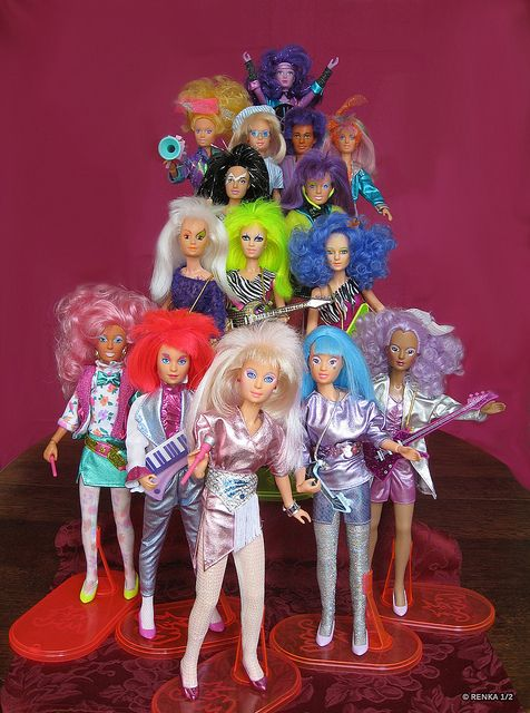 "I use to love Jem!  Sure she kinda looks like a barbie your little sister drew on an played ""hair salon"" with, but she was in a an 80s rock band!  Enough said."