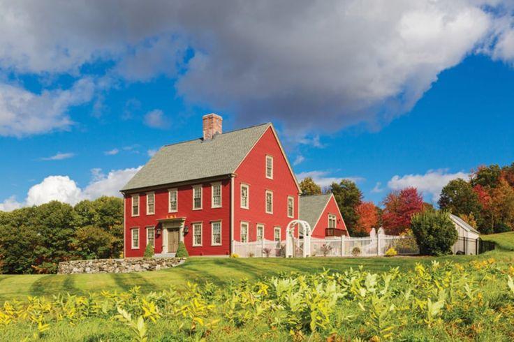 Ein amerikanischer Kolonialherr in New Hampshire   – SALTBOX  HOMES  AND  MORE