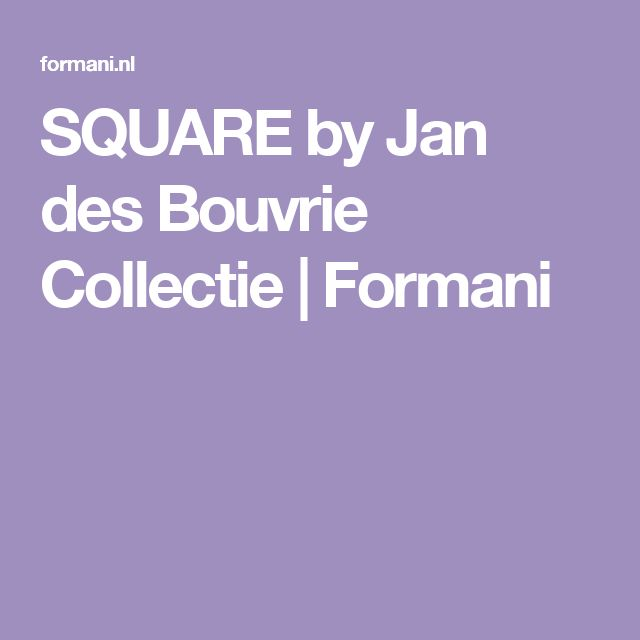SQUARE luxe deur krukken & beslag by Jan des Bouvrie Collectie | Formani