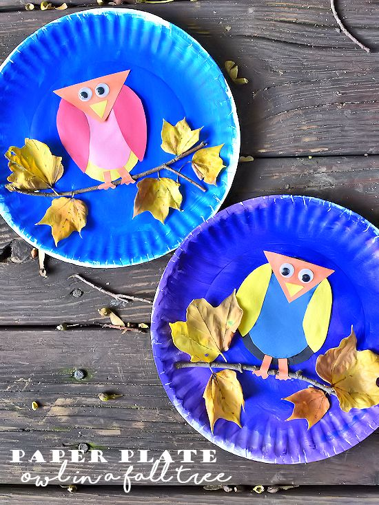 Paper Plate Owl in a Fall Tree Craft and our Fall Adventures with #CapriSun #clvr (ad)