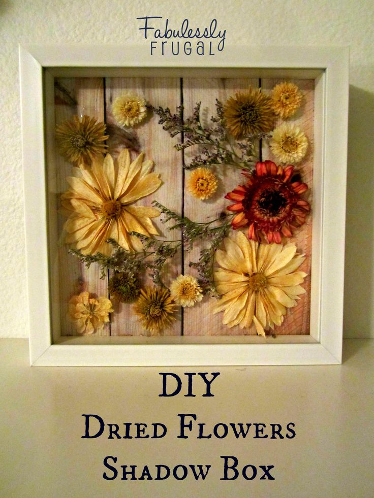 DIY Dried Flowers Shadow Box - I've seen these done in regular 'window' type frames - amazing. Now to put all those flowers I've collected and pressed to use!