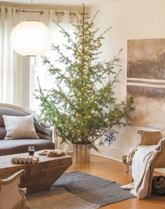Christmas Tree Decorating Trends   Use a large wicker basket or galvanized laundry tub to disguise the tree stand. It's a more modern take on the traditional skirt, and gives your real Christmas tree a cleaner, updated look.