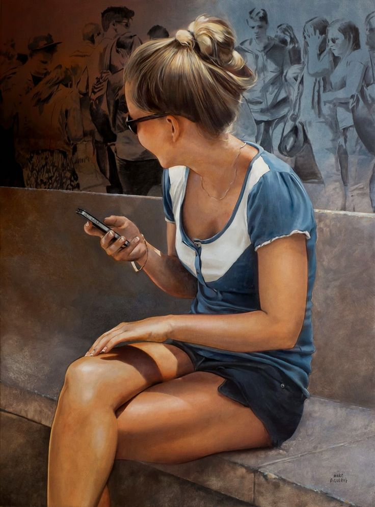 Marc Figueras {contemporary figurative realism art seated female painting #loveart} marcfigueras.blogspot.com