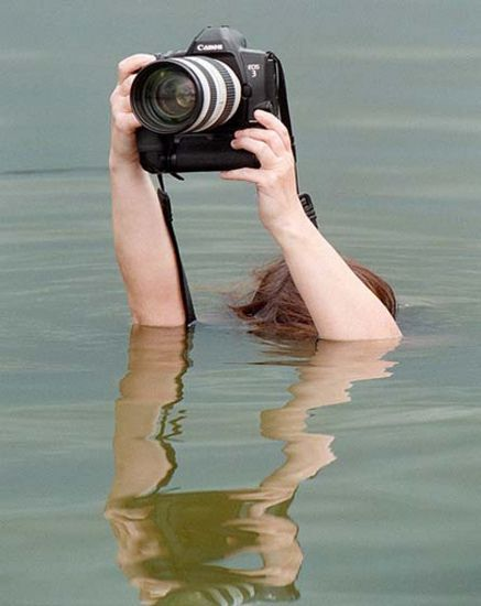 Perseverance is...above water photography....now you see me, now you don't