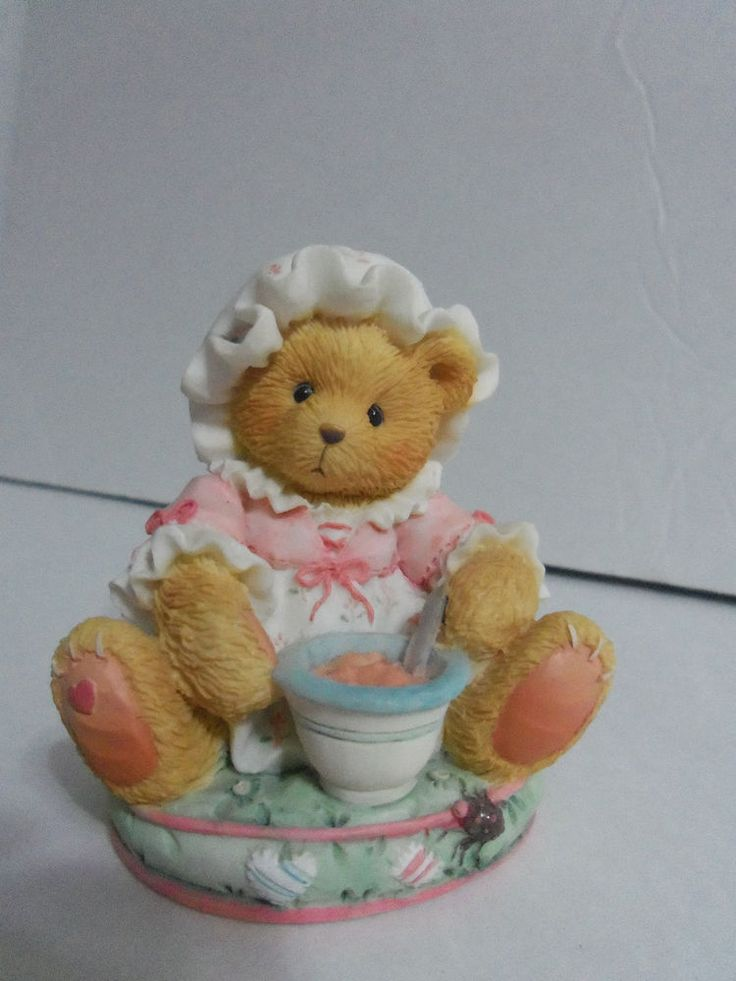 Enesco Cherished Teddies 1993 Little Miss Muffet # 624799 Find me At www.secondhanddelights.com