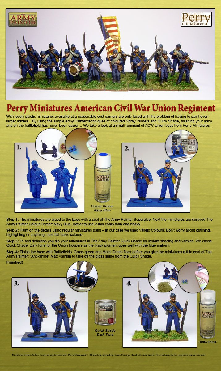 The army painter perry miniatures union infantry acw for Perry cr309 s manuale