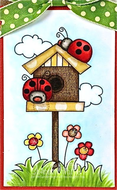 lady bug doodling | ... Ladybug Creations: You Can Never Have Too Much Happy - Whimsie Doodles