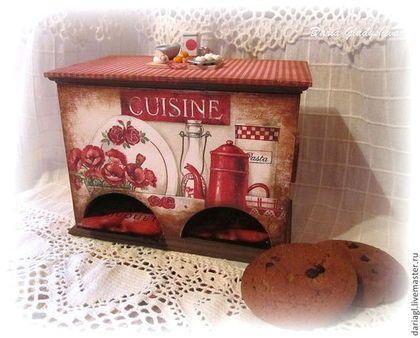 """Кухня ручной работы. Ярмарка Мастеров - ручная работа Чайный домик двойной """"Cuisine"""" с миниатюрой. Handmade."""