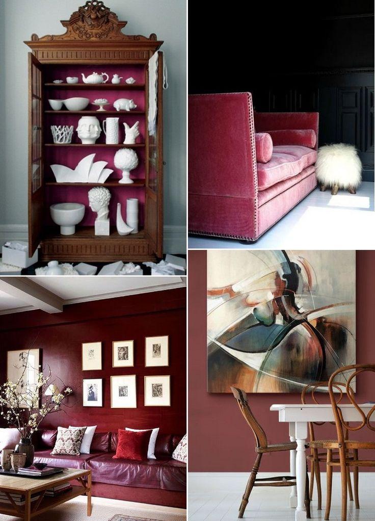 Decorating with Marsala - Pantone Color 2015 | Home Decor Ideas