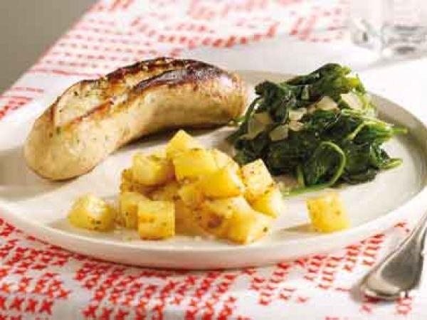 Witte pens met spinazie en aardappelblokjes - Libelle Lekker!