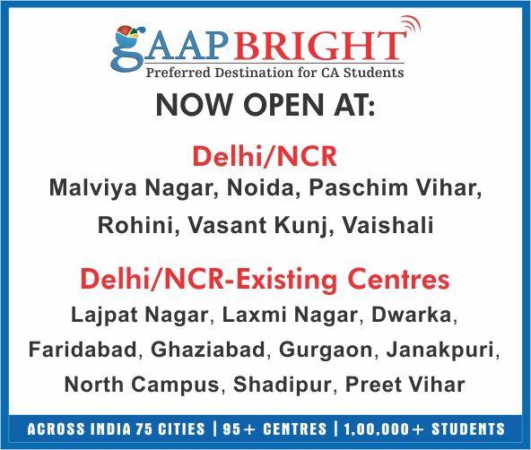 GaapBright Delhi/NCR Centres..!!