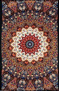 Sunshine Joy® 3D India Dark Star Red & Blue Tapestry Wall Hanging Trippy Table Cloth Magical Dorm Decor - Huge 60x90 Inches