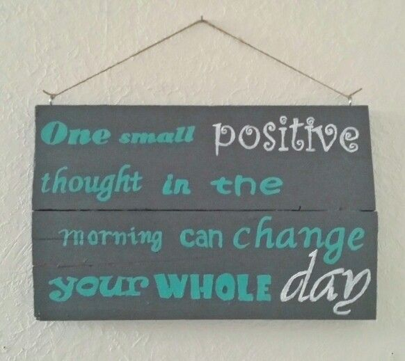 Wooden Sign With Quote.