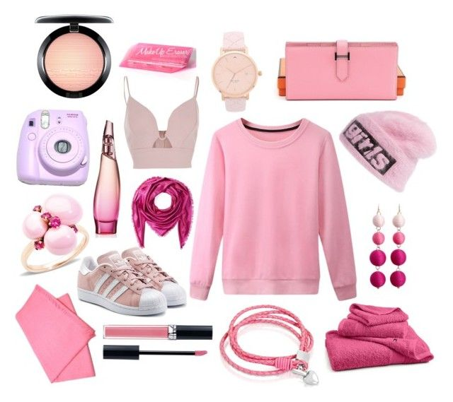 P I N K by ysca15 on Polyvore featuring polyvore, fashion, style, River Island, adidas Originals, Hermès, Oxford Ivy, Pomellato, Kate Spade, Alexander Wang, Gucci, Etro, MAC Cosmetics, Christian Dior, Donna Karan, Tommy Hilfiger, Polaroid and clothing   #pink #swag #girl #dayout #outfit #ootd #pretty #style #simple #tumblr #trend #pastel #cute #feminime