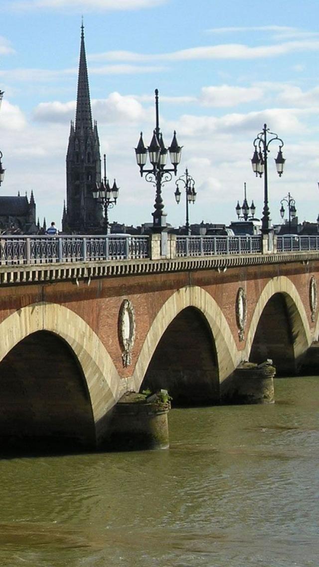 Pont de pierre, Bordeaux, Gironde, France