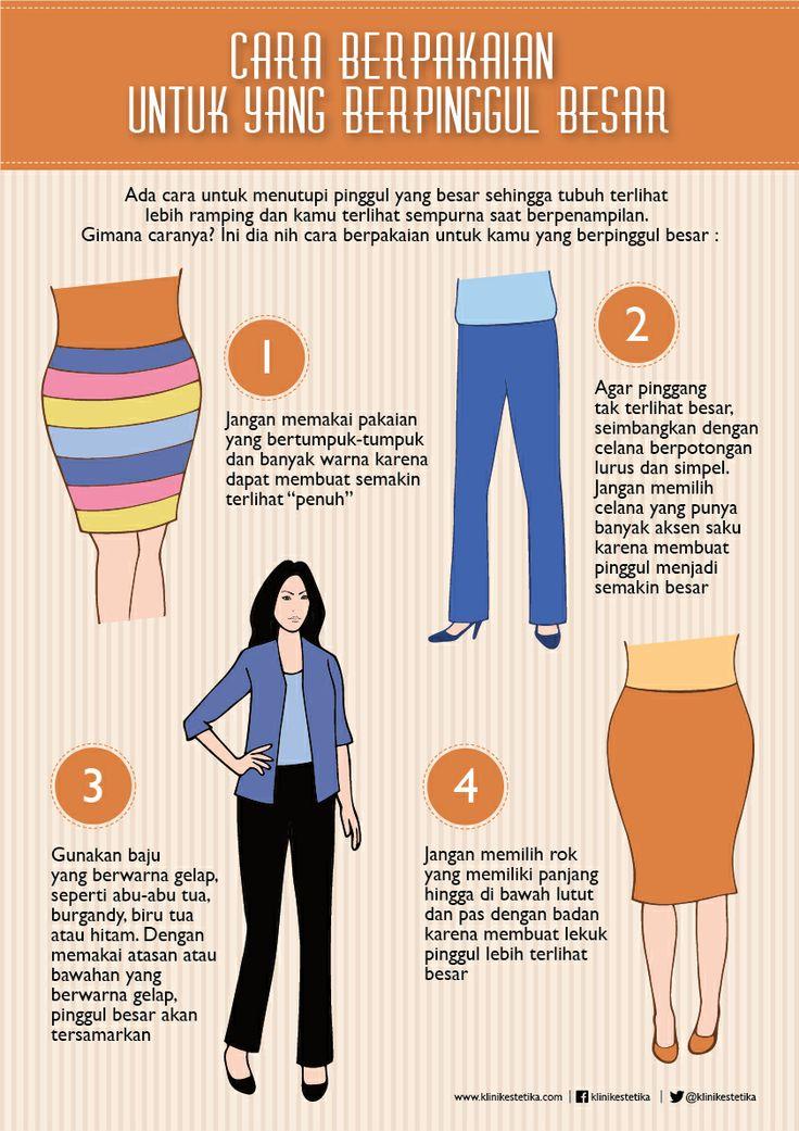 Cara Berpakaian Untuk Pinggul Besar | Beauty Infographic