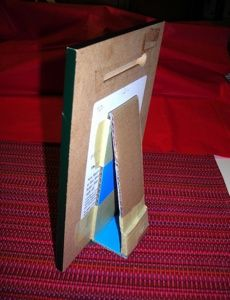 cardboard frame stand