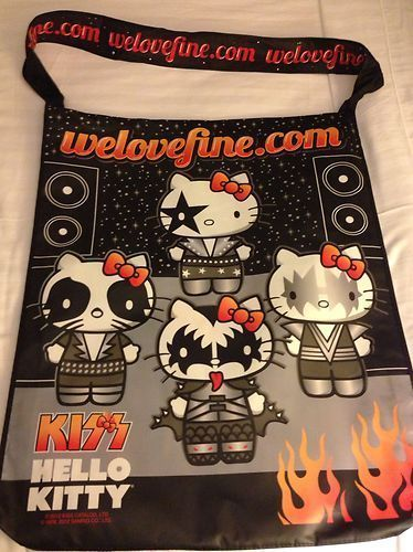 WonderCon 2013 Comic Convention Hello Kitty KISS Rocker Adventure Time Large Bag. I love this.