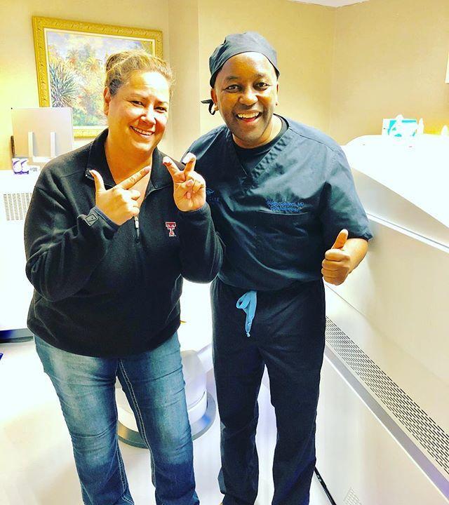 Everyone is showing their school spirit today. Happy happy happy patient after Laser Vision Correction. #TexasTechRedRaiders  #lasikboss #lasik #sidgicherumd #1smileindfw