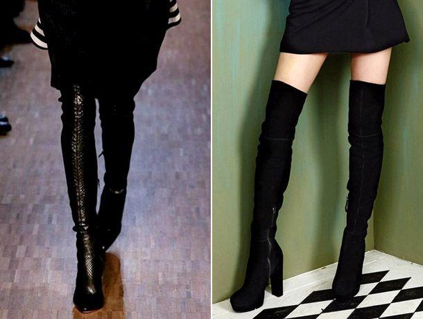 Модные сапоги-чулки 2017