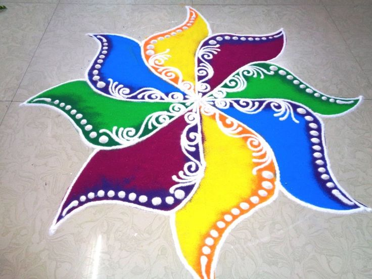 Simple easy and unique rangoli designs #rangolidesigns