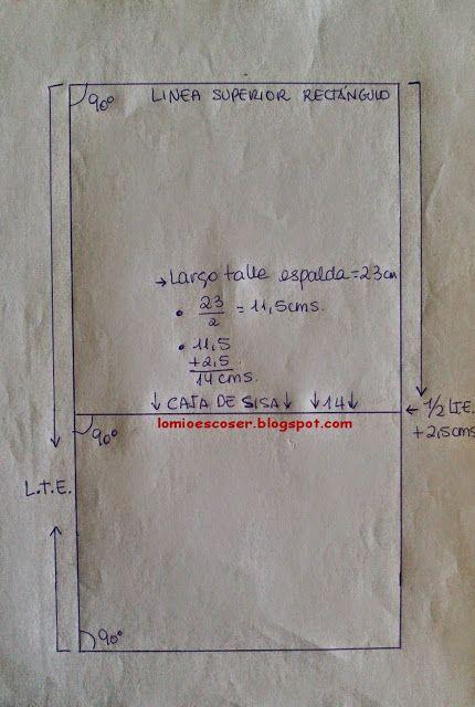LO MIO ES COSER..... Y HACER PATRONES: Patrón Cuerpo Base Niña y Niño: Medidas